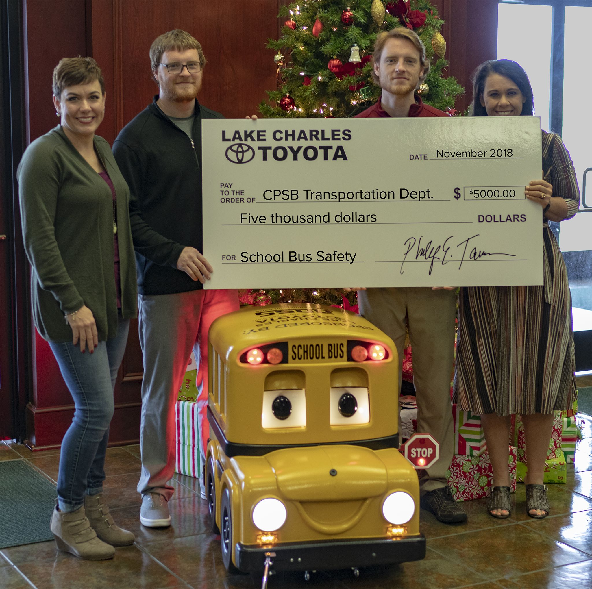 Lake Charles Toyota >> Lake Charles Toyota Recently Donated 5 000 To The Calcasieu