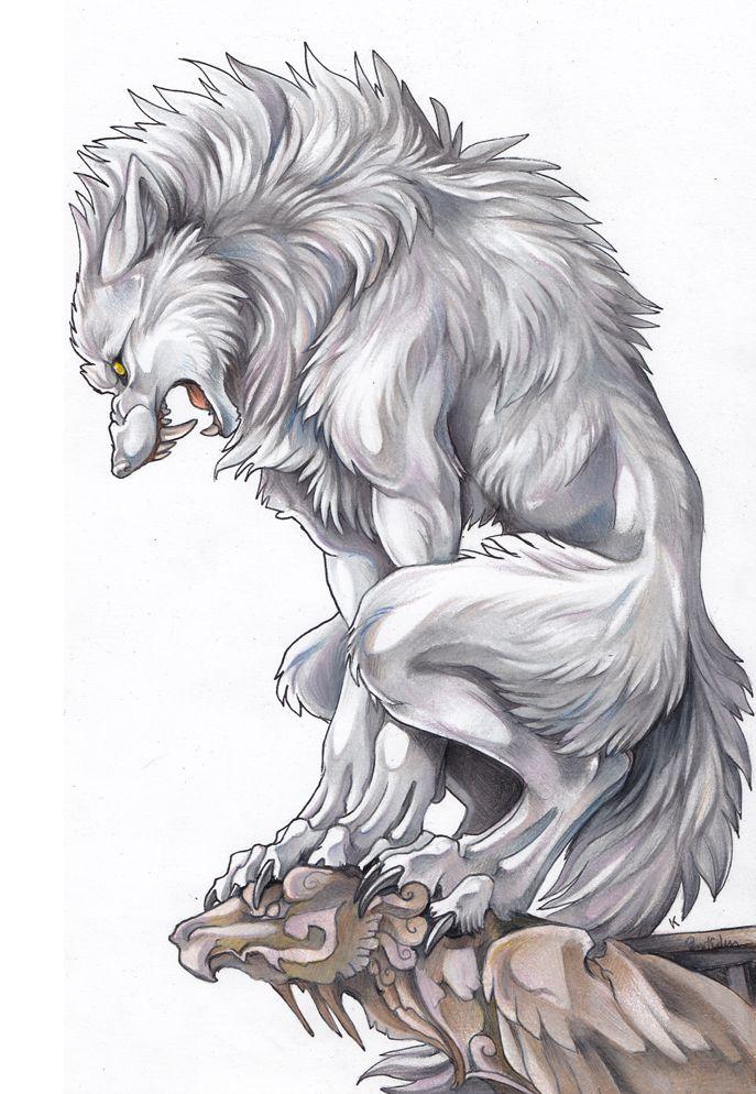 Porqué Razón Esta Arriba De Una Gargola Ilustra Lobos