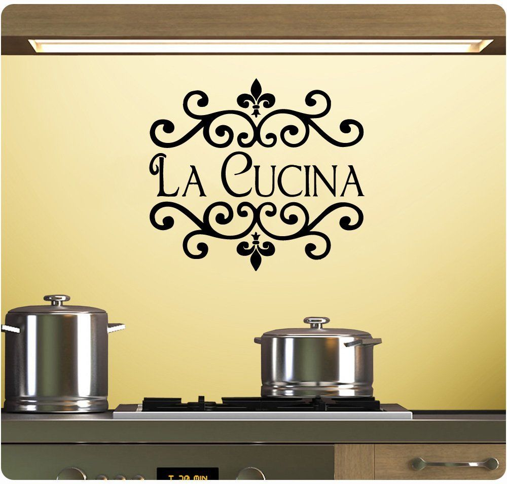 La Cucina Wall Decal Sticker Art Mural Home Décor Quote - Wall Decor ...