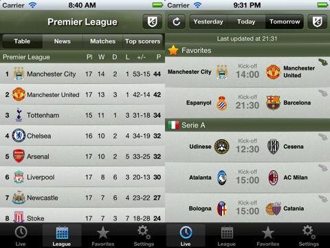Soccer Scores Pro Fotmob Iphone App Review Appsafari Soccer Scores Live Soccer Soccer Results