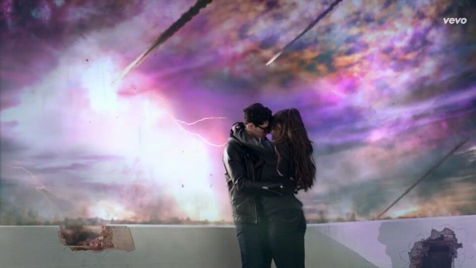 Ariana Grande in her new music video one last time this was the best video ever in my opinion
