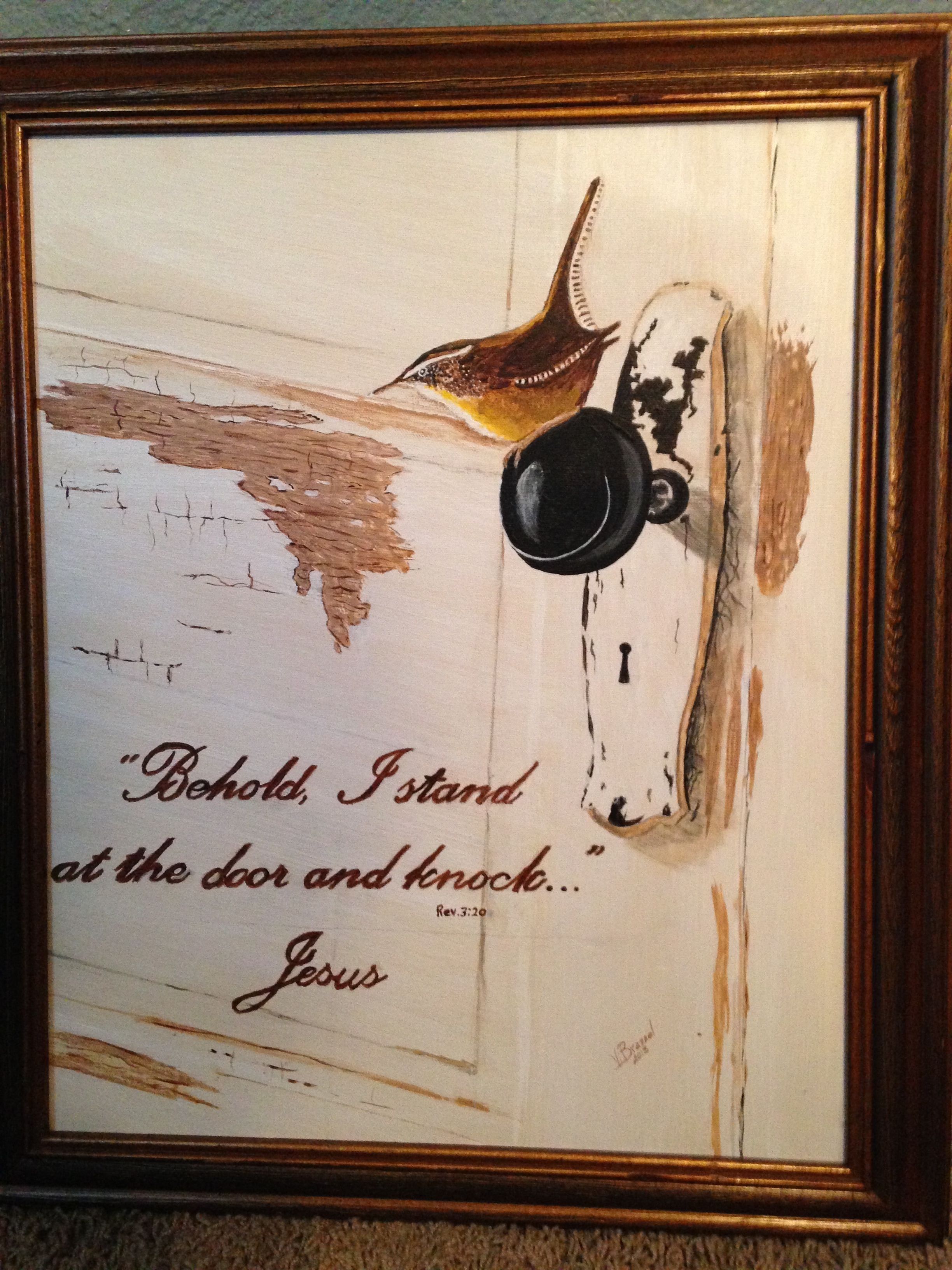 Bird on a door knob behold i stand at the door and knock jesus bird on a door knob behold i stand at the door and knock altavistaventures Gallery