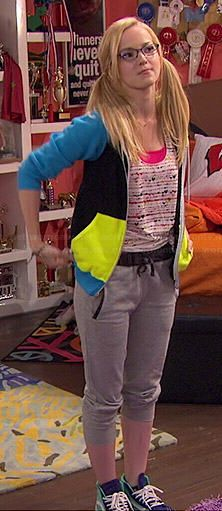 Maddie's heart print top and colorblock hoodie on Liv and Maddie.  Outfit Details: http://wornontv.net/44229/ #LivandMaddie