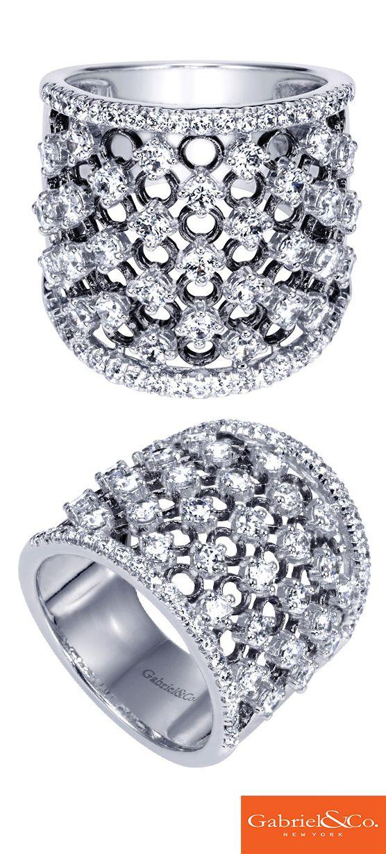 4f2955968ce67 A stunning Amavida 18k White Gold Diamond Ring from Gabriel & Co ...