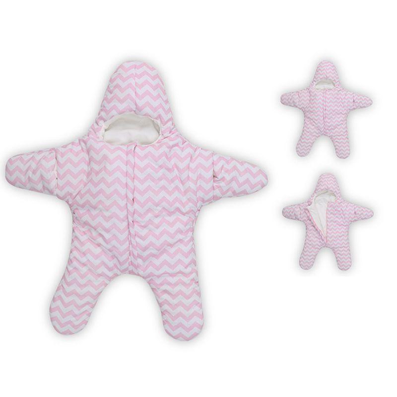 Children Sleeping Bags Cotton Baby Autumn Winter Warm Sleeping Bag Starfish Shape Hold Quilt Neonatal Sleeping Bag