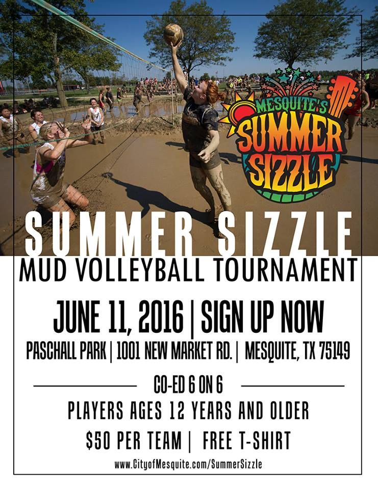 Get A Team Together To Participate In The Mud Volleyball Tournament During Summer Sizzle On June 11 Volleyball Tournaments Movies Under The Stars Tournaments