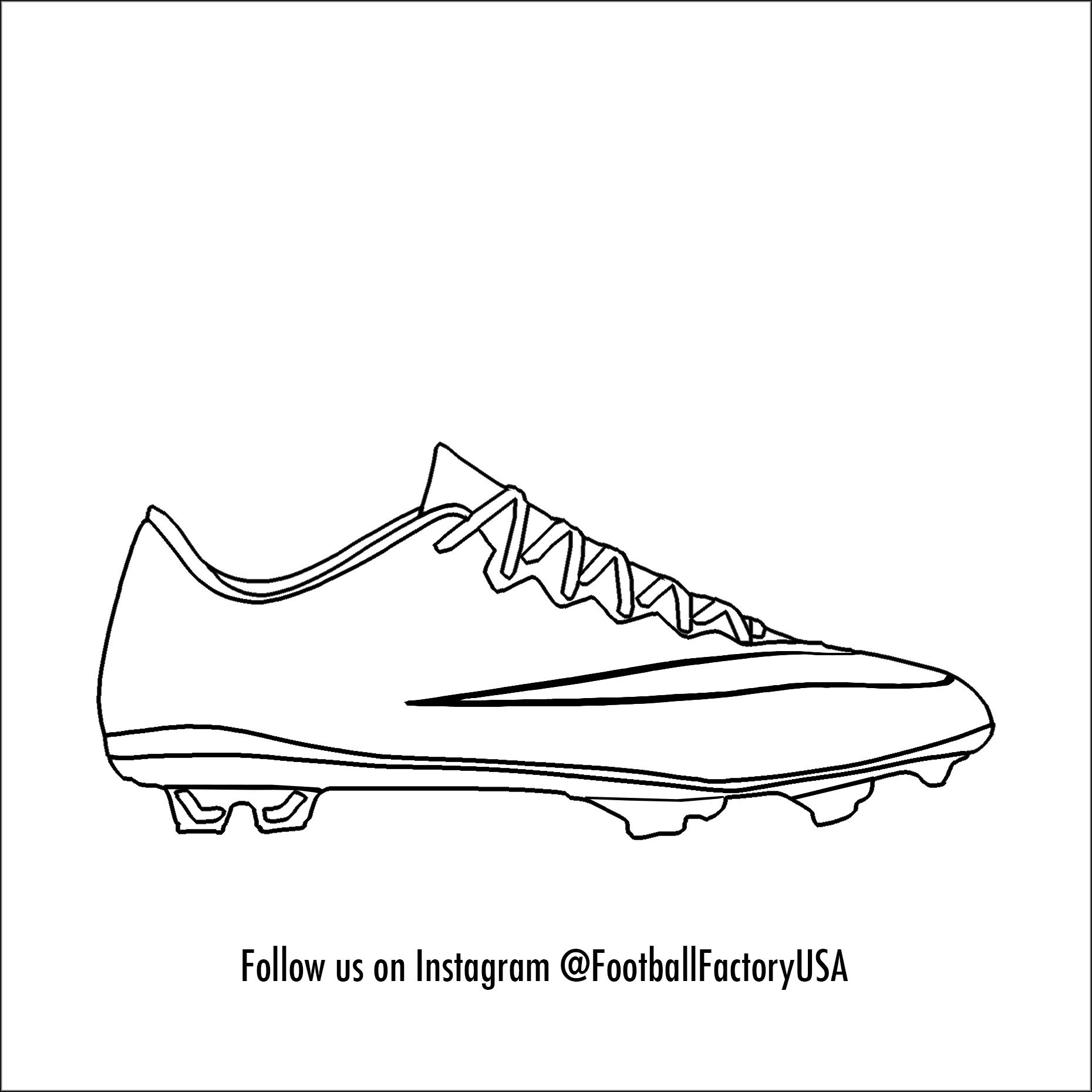 Soccer Cleats Coloring Pages Soccer Cleats Messi Soccer Cleats Soccer Cleats Nike