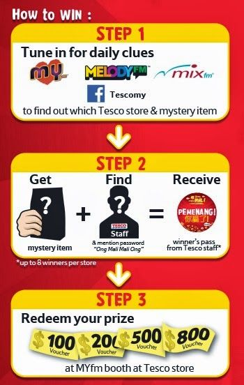 A short step by step to join and win Tesco's 'Ong Mali ...