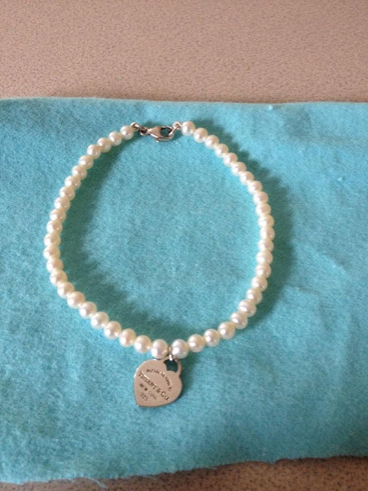 Beautiful Tiffany Co Sterling Silver Return To Pearl Bracelet Like New By Tiffanytreasure On Etsy