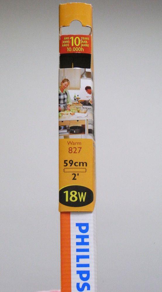 Philips Leuchtstoffrohre Tl D 18w 827 G13 2700k 1350lumen Warmweiss Leuchtstoffrohre Leuchtmittel Lampe