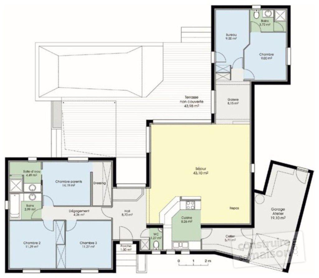 Plan rez de chaussée maison maison fonctionnelle 1