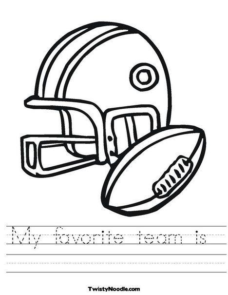 Football Helmet and Ball Worksheet from TwistyNoodle.com | Make ...