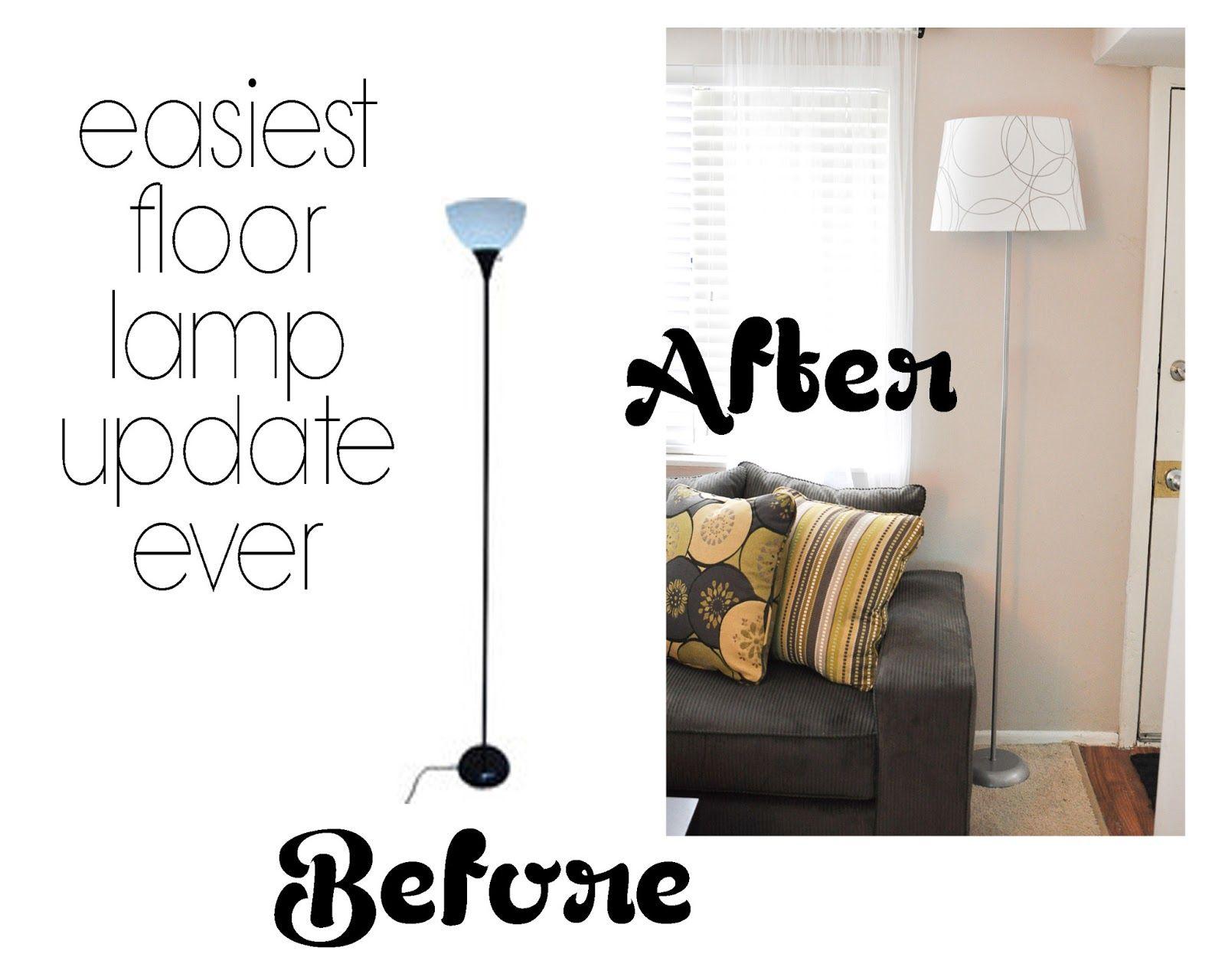Easiest Floor Lamp Update Ever Floor Lamp Makeover Diy Floor Lamp Ikea Floor Lamp