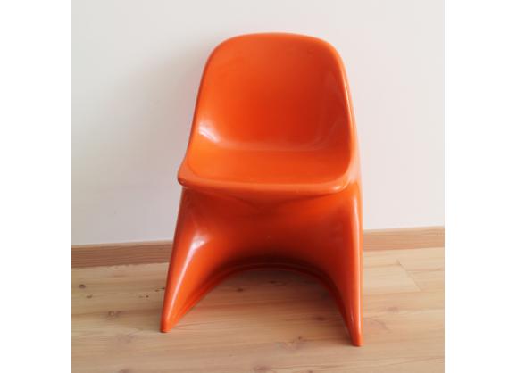 Siege Design Casalino Design Chaise Enfant Couleur Orange
