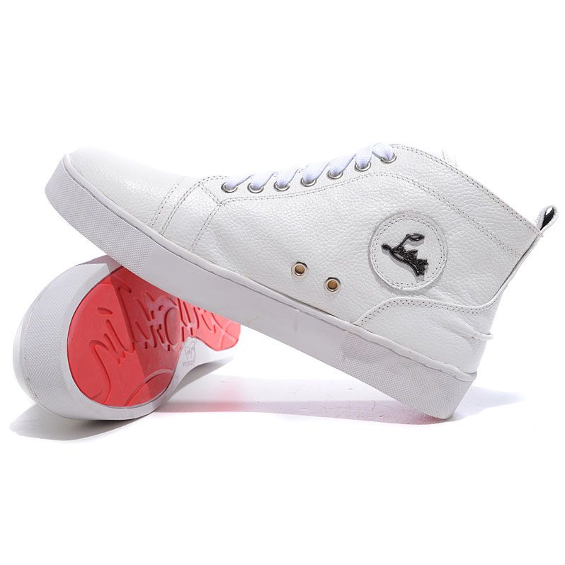 basket louboutin blanche homme