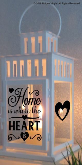 Vinyl sticker for ikea lantern home is where the heart is lantern sticker ikea lanterns