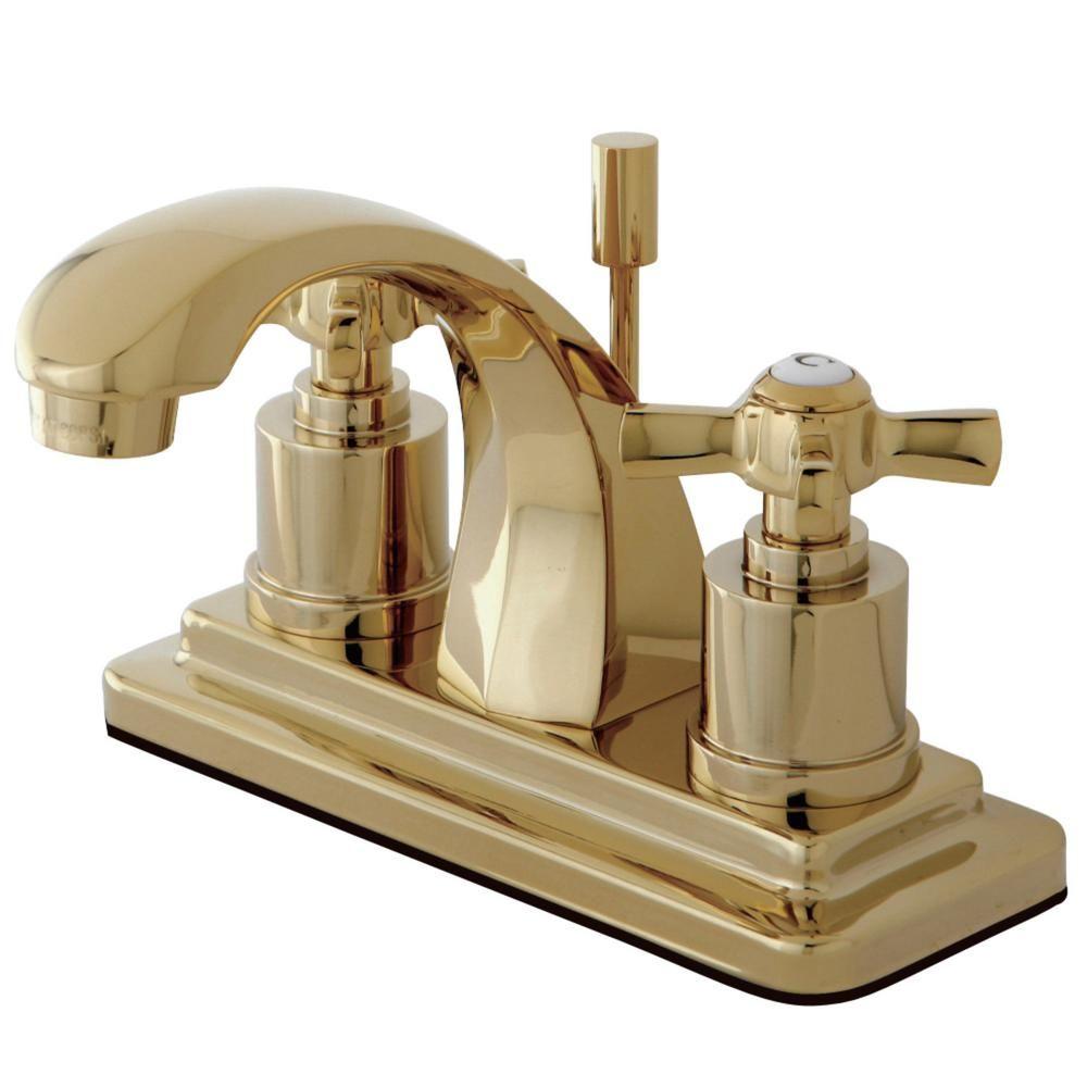 Kingston Brass Millennium 4 In Centerset 2 Handle Bathroom Faucet