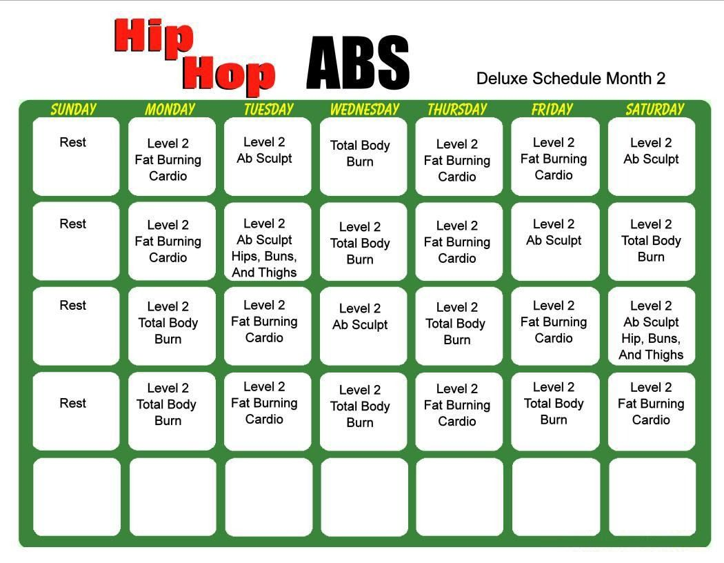 hip hop abs 6 day slim down eating plan