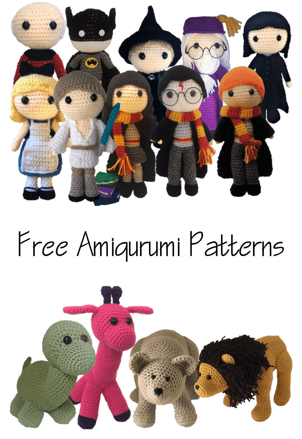 Patrones de Amigurumi gratis Harry Potter Star Trek Batman Bear Lion ...
