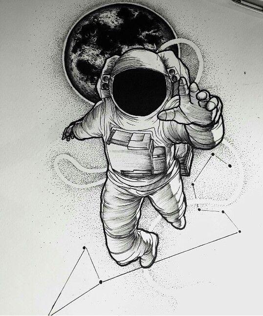 Tattoo cosmonaute tattoo pinterest tatouages dessin et id es de tatouages - Dessin d astronaute ...