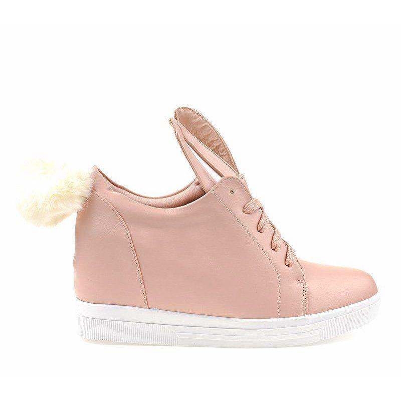 Rozowe Sneakersy Na Koturnie Kroliczki H6210 11 Pink Sneakers Sneakers Boot Shoes Women