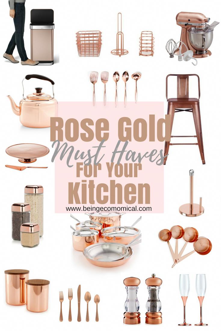 White Kitchen Decor House Of Decor Ideas For The Kitchen Design 20190413 Rose Gold Kitchen Copper Kitchen Appliances Gold Kitchen