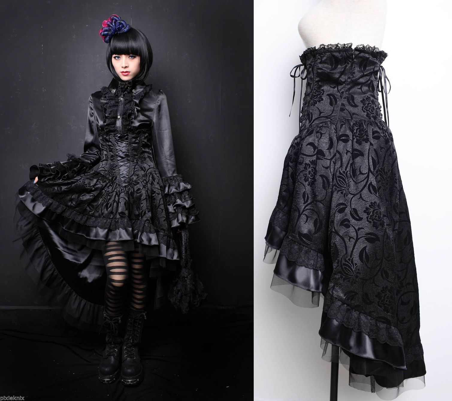 Gothic style dresses skirts