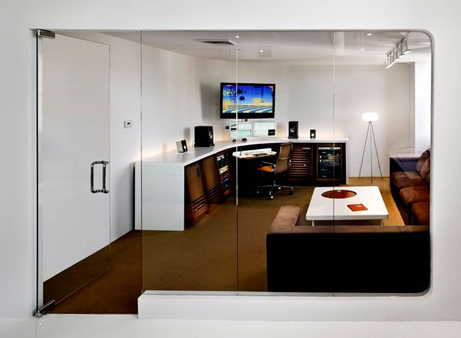 Editing Suite Commercial Office Interior Design UM Project Brooklyn NYC