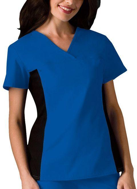 Cherokee Flexibles 2874 Women/'s V-Neck Knit Panel Top Medical Uniforms Scrubs