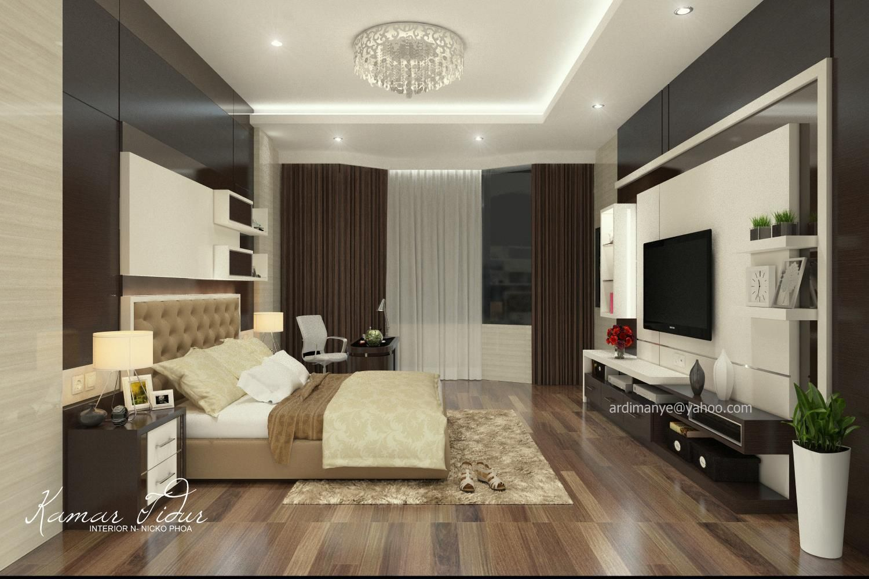 Desain interior kamar utama konsep modern minimalis desain for Design interior modern minimalis