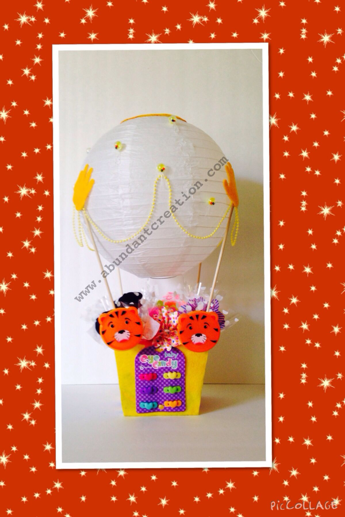 Hot Air Balloon Gift Basket. Up up and away with this