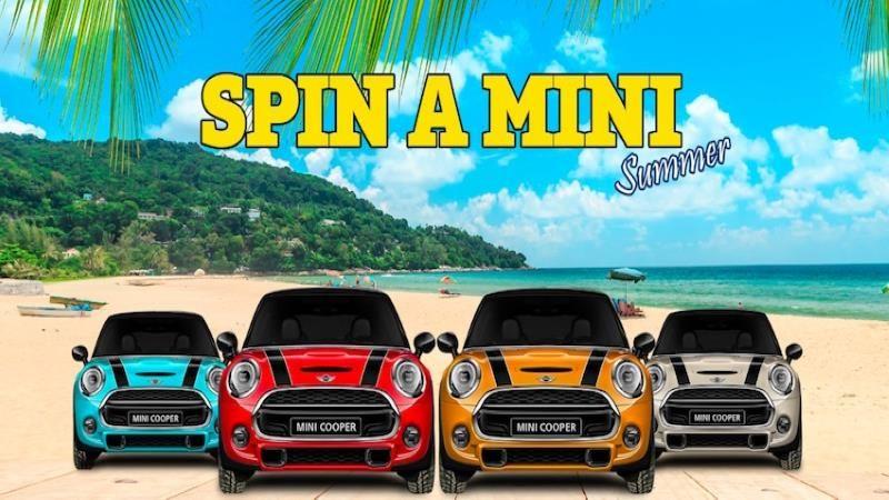 Win one of 4 brand new MINI Cooper in the Spin-a-Mini