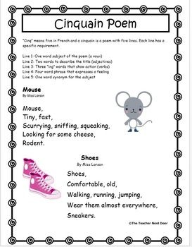 Poetry Packet Teacherspayteachers Com Poetry Lessons Poetry