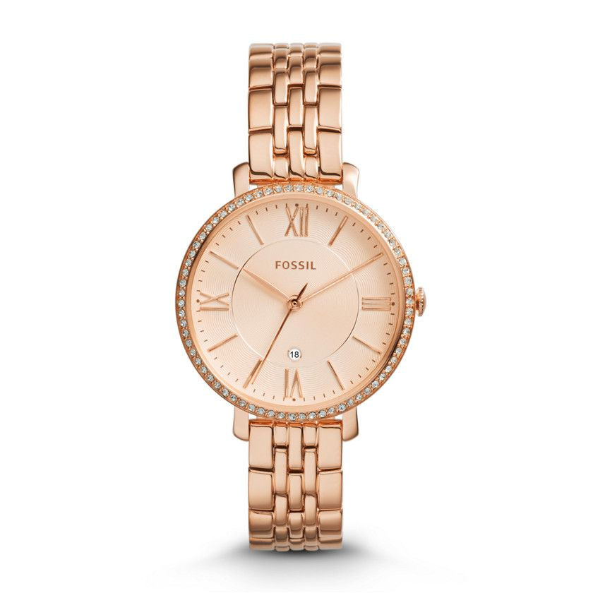 e50af3b3cfc Relógio. Acessórios. Joias. Mulher. Fossil Jacqueline Three-Hand Date  Stainless Steel Watch - Rose ES3632