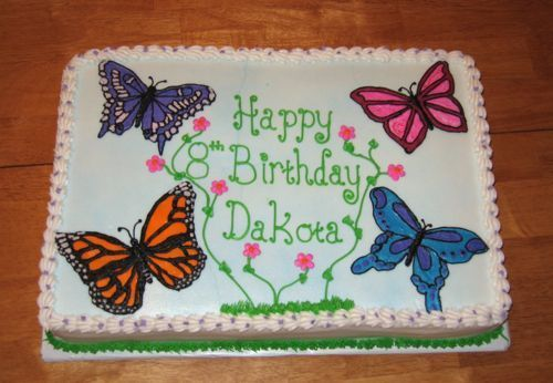 Butterfly Sheet Cakes For Girls Butterfly Birthday Sheet Cake