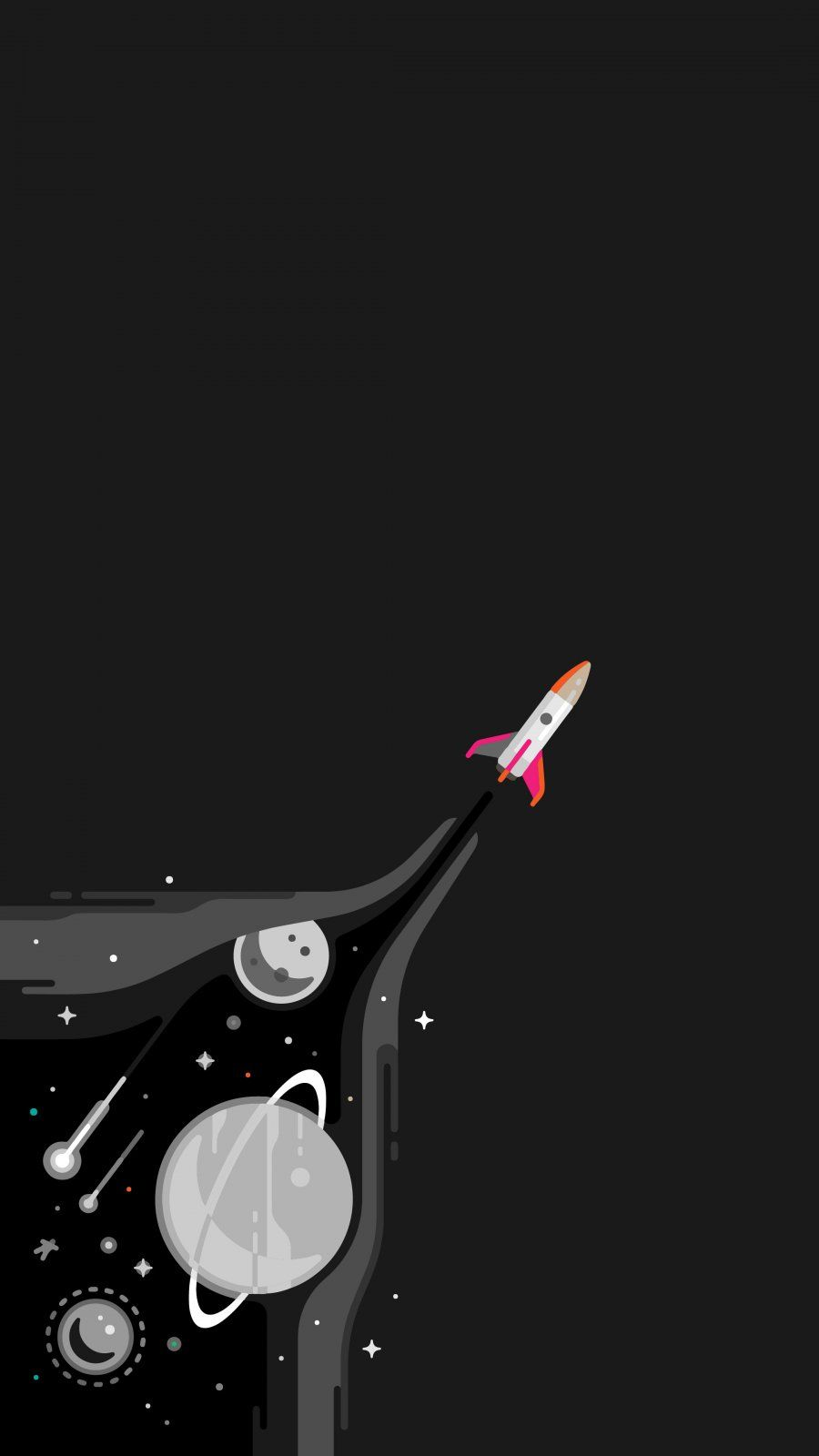 Space Rocket - iPhone Wallpapers