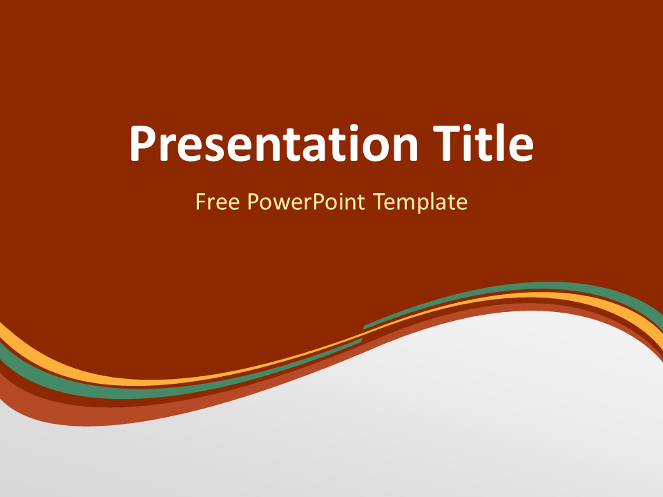 Orange Green Wave Powerpoint Template  Template And Professional