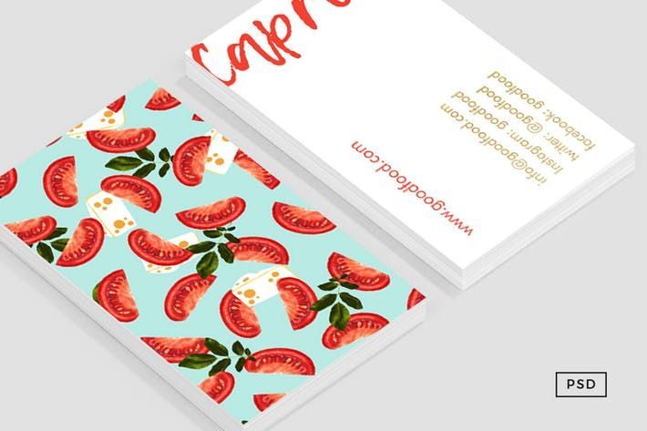 Caprese food business card template by 83oranges design caprese food business card template by 83oranges cheaphphosting Image collections