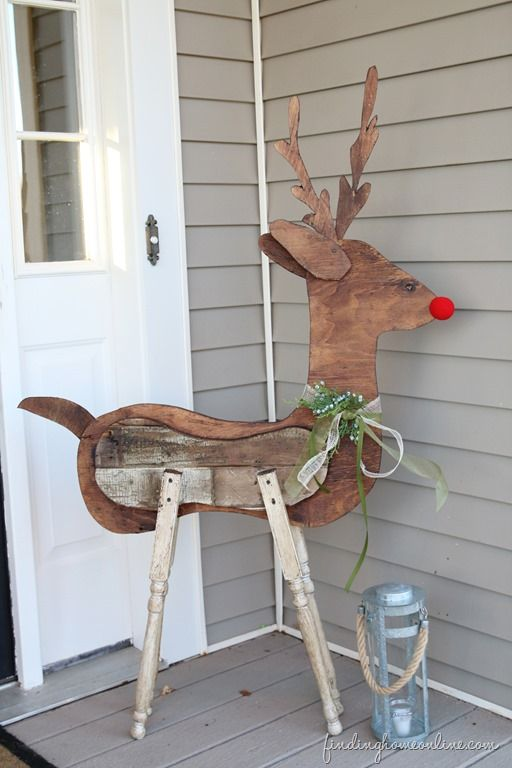diy front yard christmas decorating projects outdoor reindeer decorationschristmas yard decorationswood - Wooden Christmas Reindeer Yard Decorations