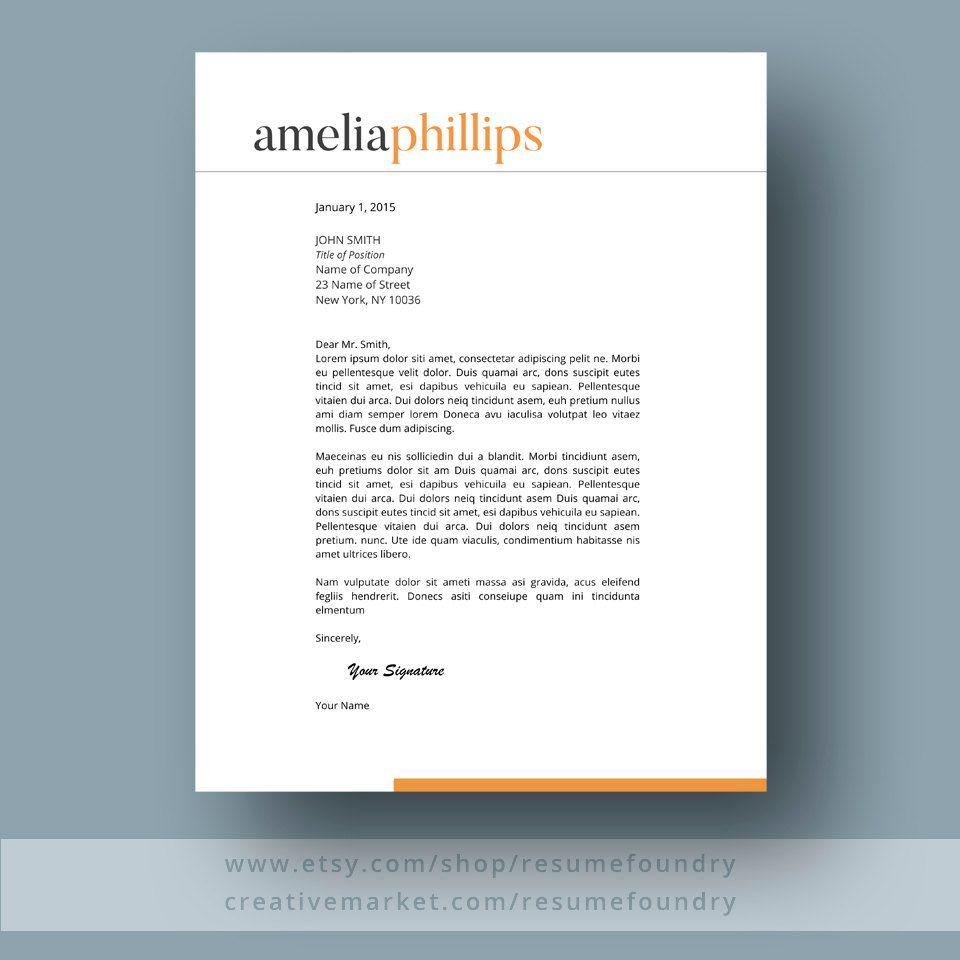 Modern Resume Template the Amelia | Kay | Pinterest