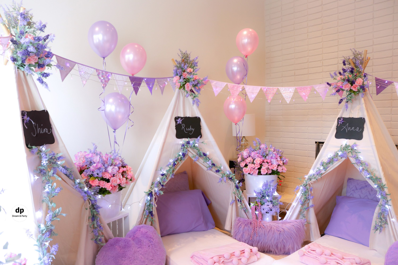 Slumber Birthday Party   Slumber party decorations, Girls