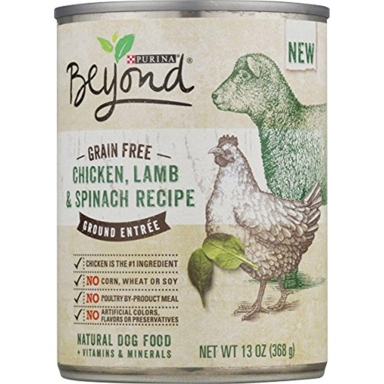 Purina Beyond Grain Free Chicken Lamb and Spinach Recipe Ground