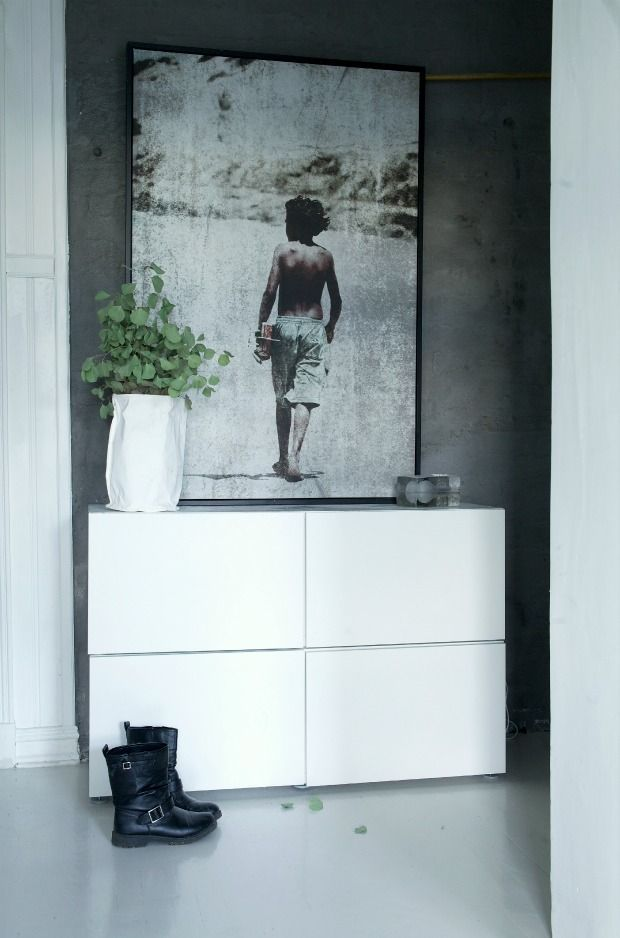 fd491c87c3 Simple IKEA Besta storage unit in a hallway