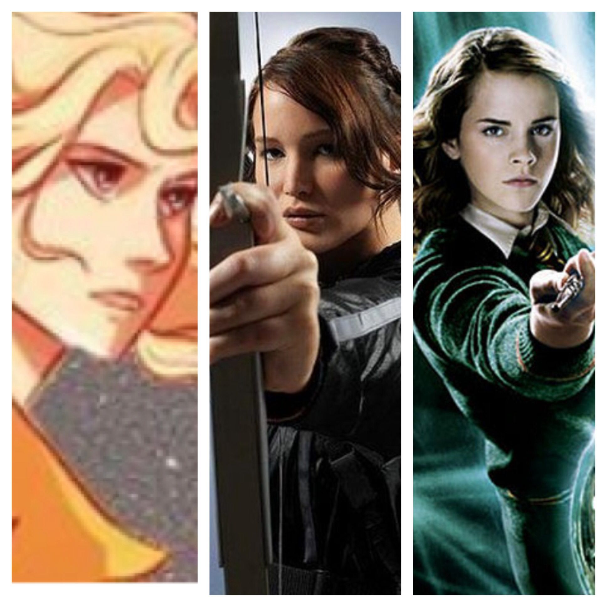 What pictures represent katniss everdeen yahoo answers - My Favorite Books Annabeth Chase Katniss Everdeen And Hermione Granger