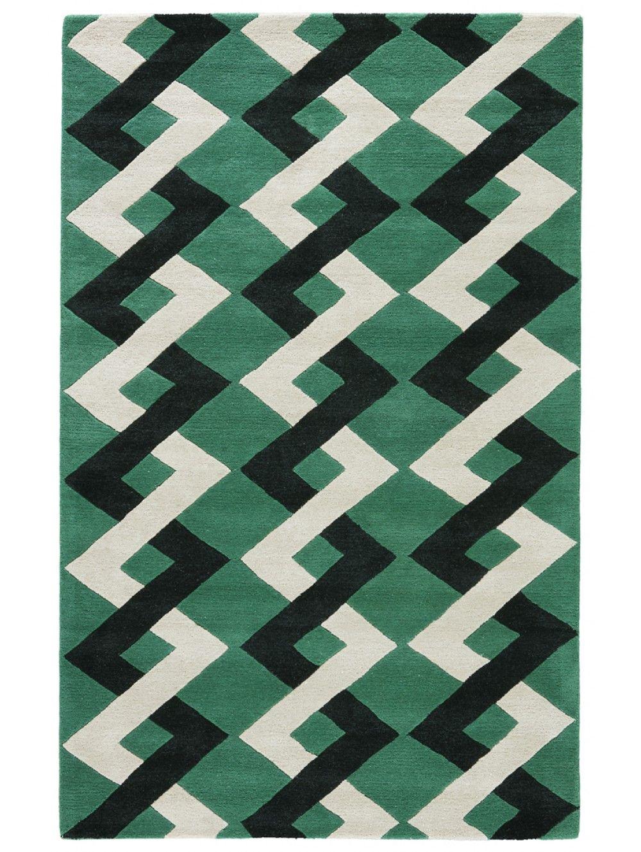 Kate Spade New York Gramercy Zig Zag Rug Picnic Green Artisan Rugs Rugs Wholesale Rugs