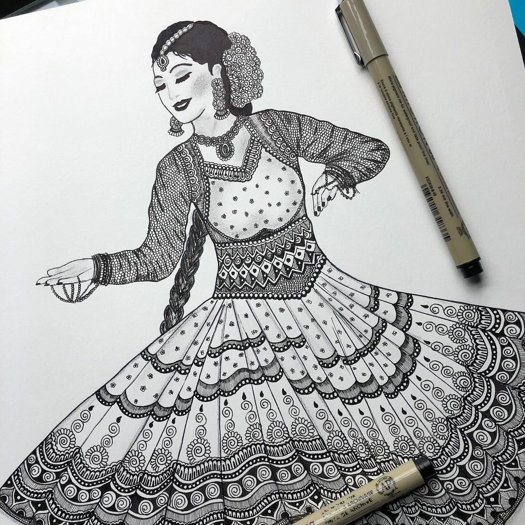 Repost Kathak One Of The Many Forms Of Indian Classical Dance The Term Kathak Means He Who Te Dancing Drawings Mandala Design Art Indian Classical Dance
