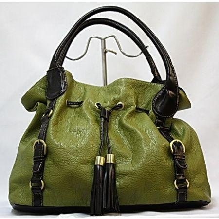 Green Tote With Tassles Bessie London Handbag
