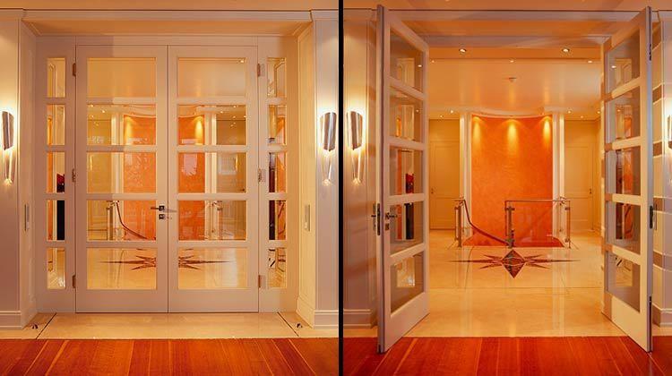 Custom Interior Doors Wood Glass Interior Wood Doors Double