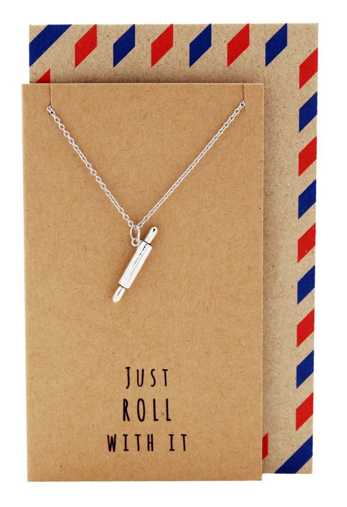 Jamie Chef Jewelry with Rolling Pin Pendant Necklace for