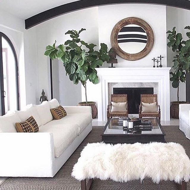 White Walls And Furniture Black Beam And Window Frame Farmhouse Decor Living Room Living Room Remodel Farm House Living Room #white #rustic #living #room #furniture